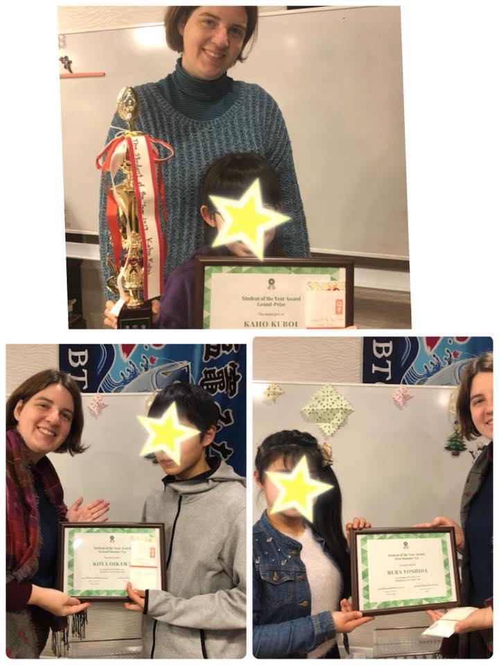 今年の生徒さん大賞2019受賞者たち