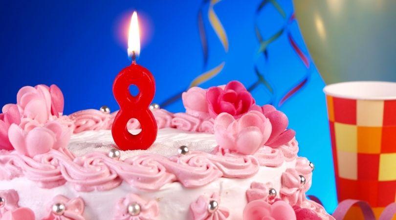 8歳の誕生日ケーキ